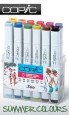 COPIC .TOO PRO MARKER - 12 PEN - SUMMER COLOURS SET