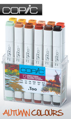 COPIC .TOO PRO MARKER - 12 PEN - AUTUMN COLOURS SET