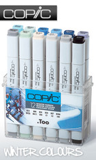 COPIC .TOO PRO MARKER - 12 PEN - WINTER COLOURS SET