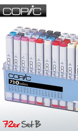 COPIC .TOO PRO MARKER - 72 PEN - B COLOURS SET