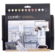 COPIC CLASSIC MARKER - Set of 12 Architecture Colours + Wallet