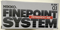NIKKO PERMANENT INK FINE POINT PENS IN BLACK PACK OF 12