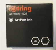 Rotring Artpen Black Ink Cartridges (Pack of 6)