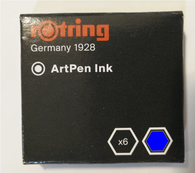 Rotring Artpen Blue Ink Cartridges (Pack of 6)
