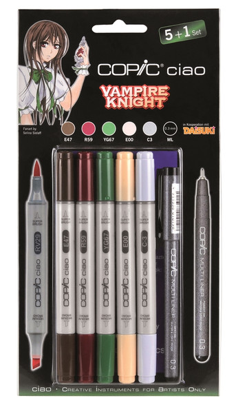 Copic Ciao Markers 5 + 1 - Vampire Knight Set