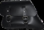 82-03 Harley-Davidson XL Sportster Left Side Solo Saddle Bag - Black Plain