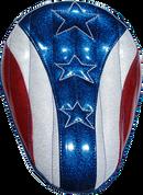 "Harley Chopper Bobber 13"" Eliminator  Solo Seat American Spirit Metal Flake"