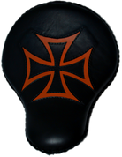 "16"" baSICK Solo Seat Black / Orange Inlay Cross"
