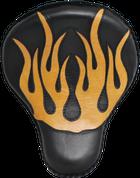 "16"" baSICK Solo Seat Black / Tan Inlay Flames"