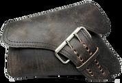04-UP Harley-Davidson Sportster Left Side Saddle Bag LA FONDINA - Rustic Black Leather