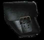 96-UP Harley-Davidson Dyna Wide Glide FXR Left Side Solo Saddle Bag with Single Strap - Black Faux Leather