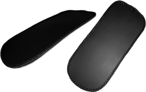 Sportster rear fender bib cover black leather la for Yamaha leather wallet
