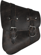 All Softail Models Left Side Solo Saddle Bag Rustic Black Leather