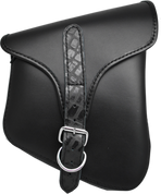 La Rosa Harley-Davidson All Harley-Davidson Softail and Rigid frames Right Side Saddle Bag  Swingarm Bag Black w/ Black Alligator Belt