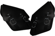 96-UP Harley-Davidson Dyna Wide Glide FXR Right & Left Side Solo Saddle Bag Black Plain
