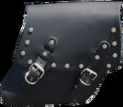 04-UP Harley-Davidson Dyna Wide Glide FXR Right Side Solo Saddle Bag Black with Rivets