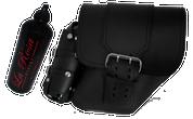 04-UP Harley-Davidson Dyna Wide Glide FXR Right Side Solo Saddle Bag Black with Wide Strap and Fuel Bottle Holder
