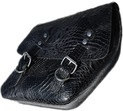04-UP Harley-Davidson Dyna Wide Glide FXR Right Side Solo Saddle Bag Black Alligator Skin