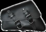 04-UP Harley-Davidson Sportster Left Side Saddle Bag - Black Plain