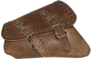 04-UP Harley-Davidson Sportster  Nightster 1200   Forty-Eight 72    Roadster Left Side Saddle Bag Swingarm Bag - Rustic Brown Cross Lace