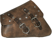 04-UP Harley-Davidson Sportster  Nightster 1200   Forty-Eight 72    Roadster Left Side Saddle Bag Swingarm Bag - Rustic Brown Riveted