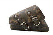 04-UP Harley-Davidson Sportster  Nightster 1200   Forty-Eight 72    Roadster Left Side Saddle Bag Swingarm Bag - Green Army Camouflage