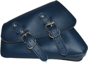 04-UP Harley-Davidson Sportster  Nightster 1200   Forty-Eight 72    Roadster Left Side Saddle Bag Swingarm Bag - Blue Leather