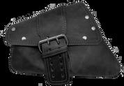 04-UP Harley-Davidson Sportster  Nightster 1200   Forty-Eight 72    Roadster Left Side Saddle Bag Swingarm Bag Rustic Black Single Wide Strap Rivet