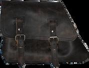 82-03 Harley-Davidson XL Sportster Left Side Solo Saddle Bag - Rustic Black