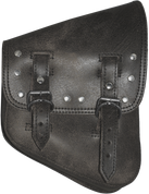 La Rosa Harley-Davidson All Softail Models Right Side Solo Saddle Bag   Swingarm Bag Rustic Black Riveted