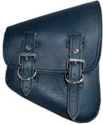 La Rosa Harley-Davidson All Softail Models Right  Side Solo Saddle Bag Swingarm Bag Blue Leather - Plain