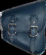 La Rosa Harley-Davidson All Softail Models Right  Side Solo Saddle Bag Swingarm Bag Blue Leather - Plain