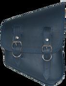 La Rosa Harley-Davidson All Softail Models Right Side Solo Saddle Bag   Swingarm Bag Blue Leather - Blue Thread