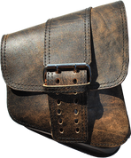 La Rosa Harley-Davidson All Softail Models Right Side Solo Saddle Bag   Swingarm Bag Rustic Brown Front Wide Strap