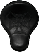 "16"" Bad Ass Solo Seat Black Maltese Cross Inlay"