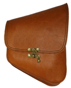La Rosa Harley-Davidson All Softail Models Right Side Solo Saddle Bag  Swingarm Bag Tan Leather with Quick Release Latch