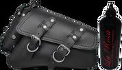 04-UP Harley-Davidson Sportster Nightster 1200 Forty-Eight 72 XL Right Side Saddle Bag Swingarm Bag Plain Black Spare Fuel Bottle