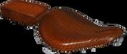 "16"" baSICK Solo Seat & Passenger Pad Alligator Brown Shedron"