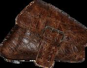 04-UP Harley-Davidson Sportster Nightster 1200   Forty-Eight 72 XL Right Side Saddle Bag Swingarm Bag Rustic Brown Alligator Single Wide Strap