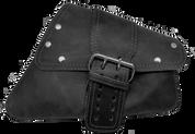 04-UP Harley-Davidson Sportster Nightster 1200   Forty-Eight 72 Right Side Saddle Bag Swingarm Bag Rustic Black Single Wide Strap Rivet