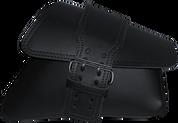 04-UP Harley-Davidson Sportster Nightster 1200   Forty-Eight 72 Roadster Right Side Solo Saddle Bag Swingarm Bag Plain Black Single Wide Strap