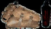 04-UP Harley-Davidson Sportster Right Side Saddle Bag Rustic Brown claSICK with Spare Fuel Bottle Holder