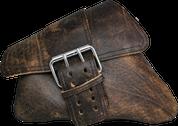 04-UP Harley-Davidson Sportster Nightster 1200   Forty-Eight 72 Left Side Saddle Bag Swingarm Bag Rustic Brown Single Wide Strap