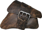 04-UP Harley-Davidson Sportster Nightster 1200   Forty-Eight 72 Right Side Saddle Bag Swingarm Bag Rustic Brown Single Wide Strap