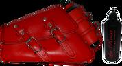 04-UP Harley-Davidson Sportster  Nightster 1200   Forty-Eight 72 XL Left Side Saddle Bag Swingarm Bag Red Leather Spare Fuel Bottle