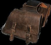 Universal Throw Over Saddle Bag Set Rustic Brown Plain