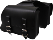 Universal Throw Over Saddle Bag Set Black Plain