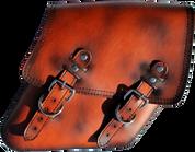 04-UP Harley-Davidson Dyna Wide Glide FXR Right Side Solo Saddle Bag Antique Shedron Plain