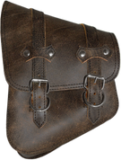 All Softail Models Left Side Solo Saddle Bag Rustic Brown Leather