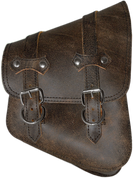 All Softail Models Right Side Solo Saddle Bag Rustic Brown Leather